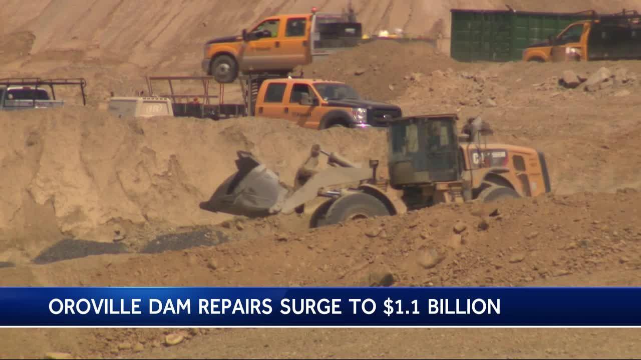 Cost to repair Oroville Dam surpasses $1 billion