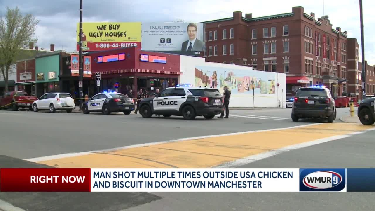 Man shot multiple times outside USA Chicken and Biscuit in Manchester