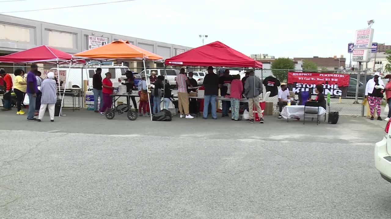 High Point Peacemakers host community lunch, call for end to violence