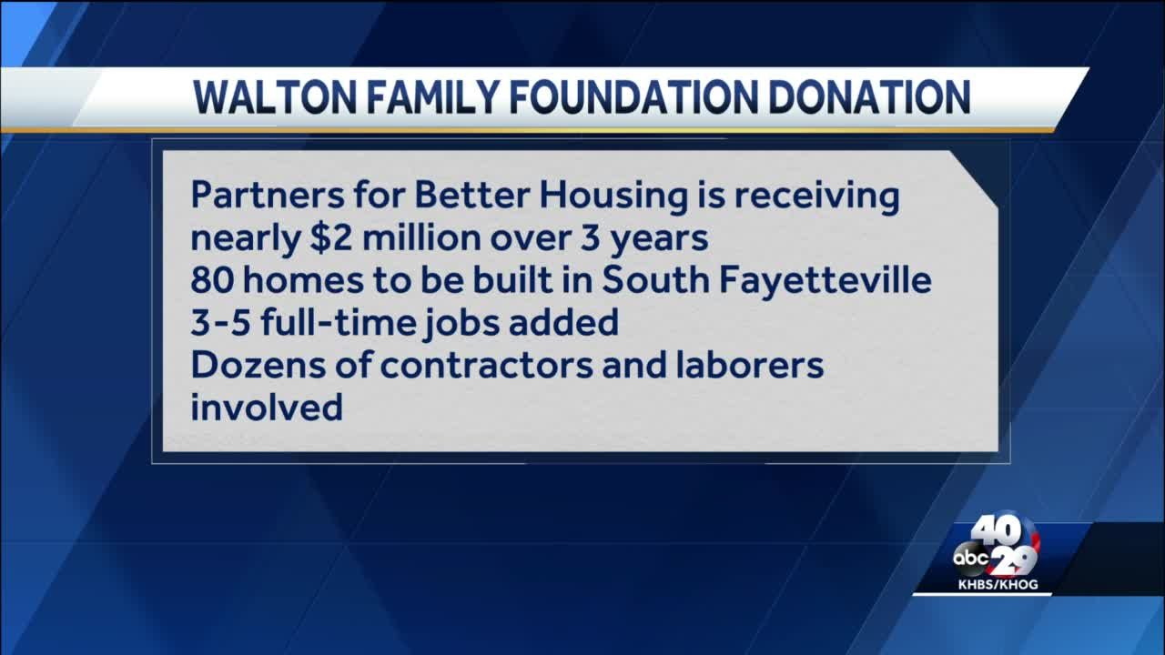80 new homes to be built with Walton Family Foundation money