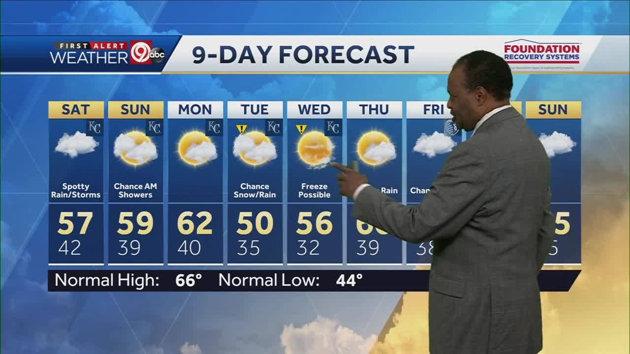 Look for sunshine Saturday afternoon, highs in the 50s