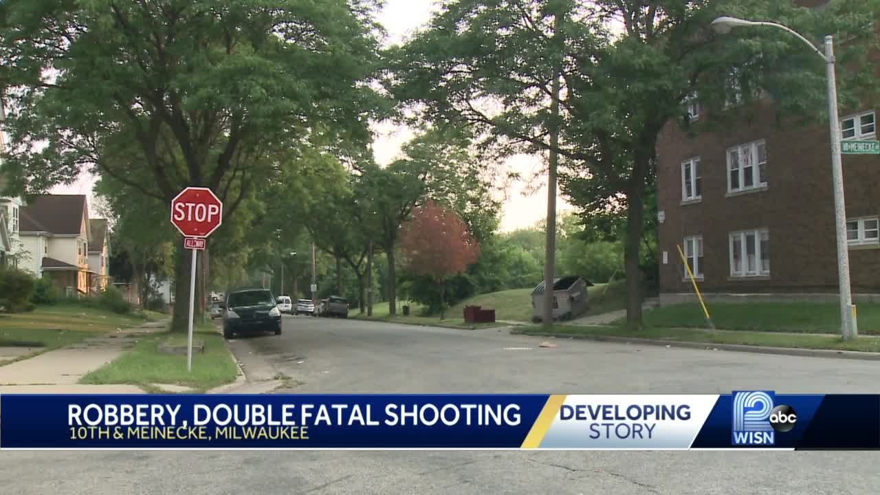 Two men killed in shooting that may be related to robbery, police say