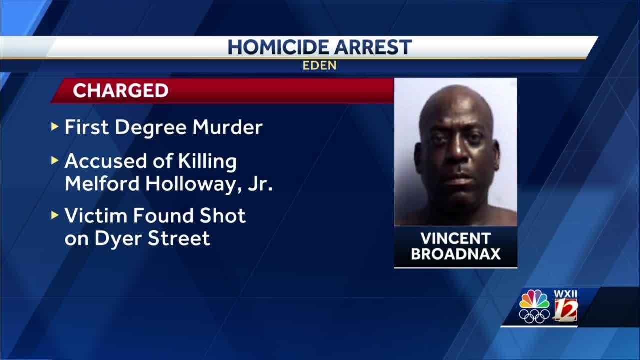 Eden police arrest man for murder after shooting