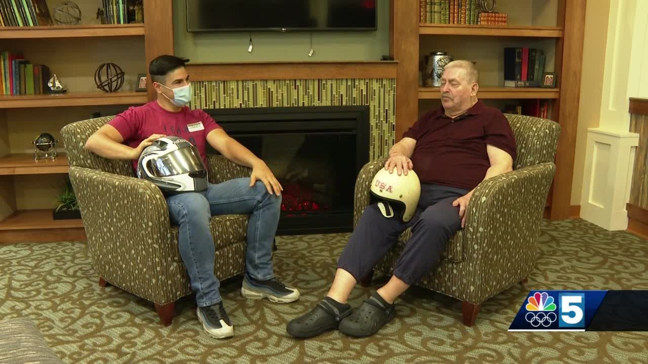 Bobsled competitors, decades apart, meet at local nursing home