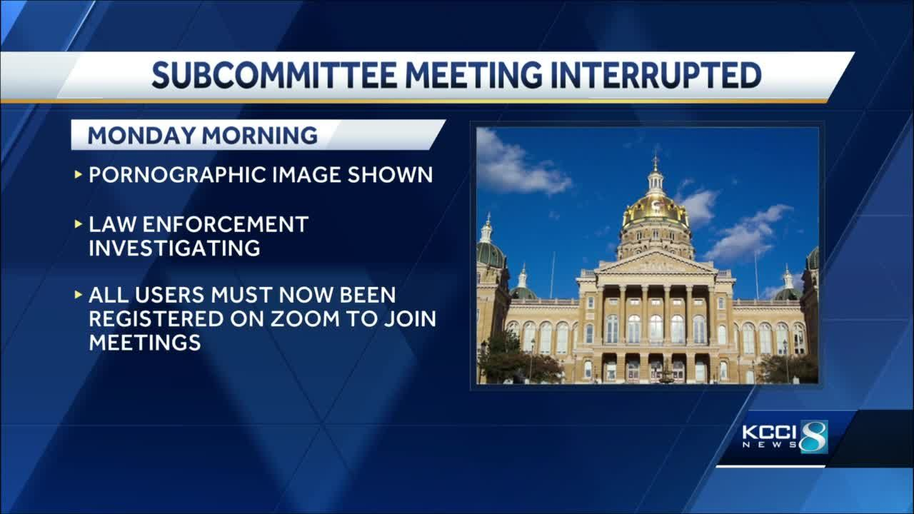 Iowa Senate adopts new rules after meeting interrupted by pornographic image (