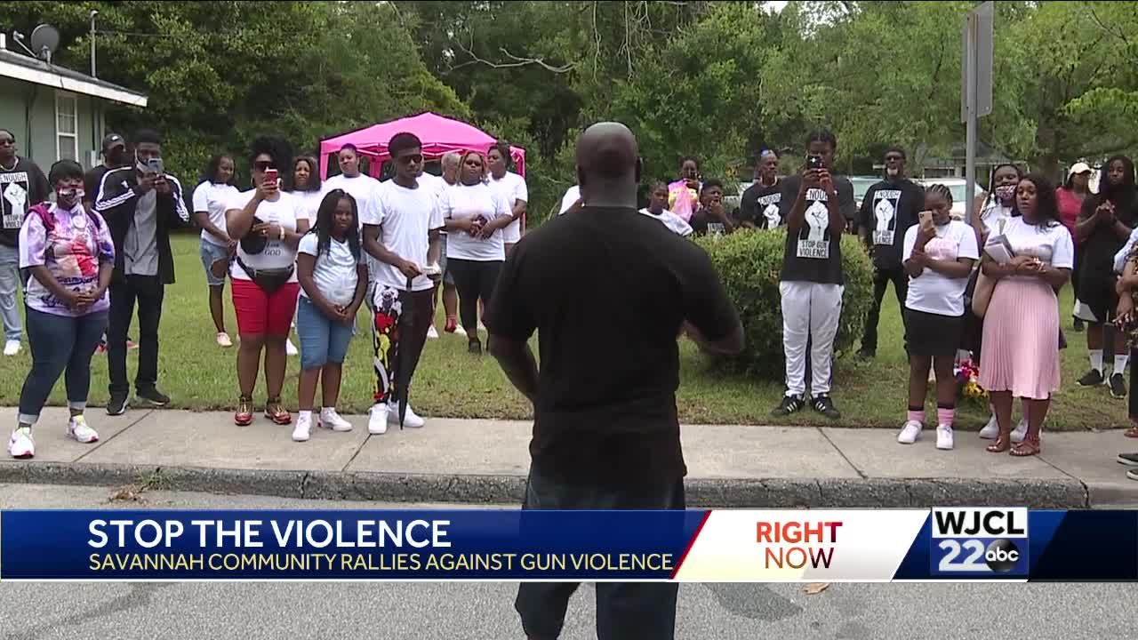 'Stop the violence': Savannah community members rally for change