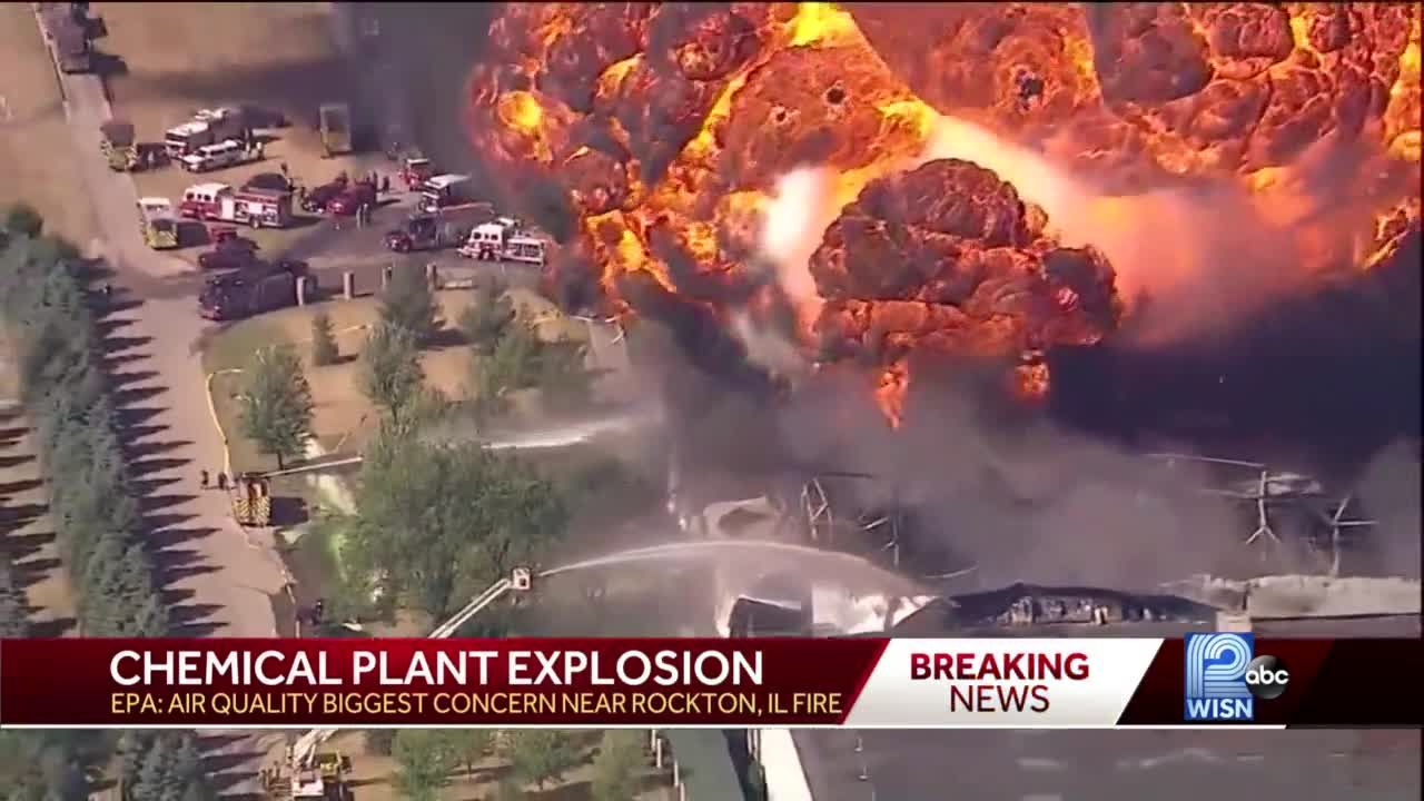 Officials tell people living within a mile of the fire to evacuate