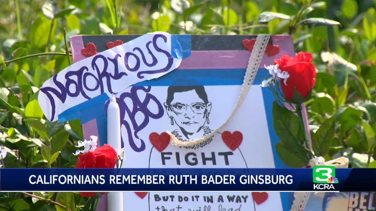 Ruth Bader Ginsburg memorial set up at State Capitol