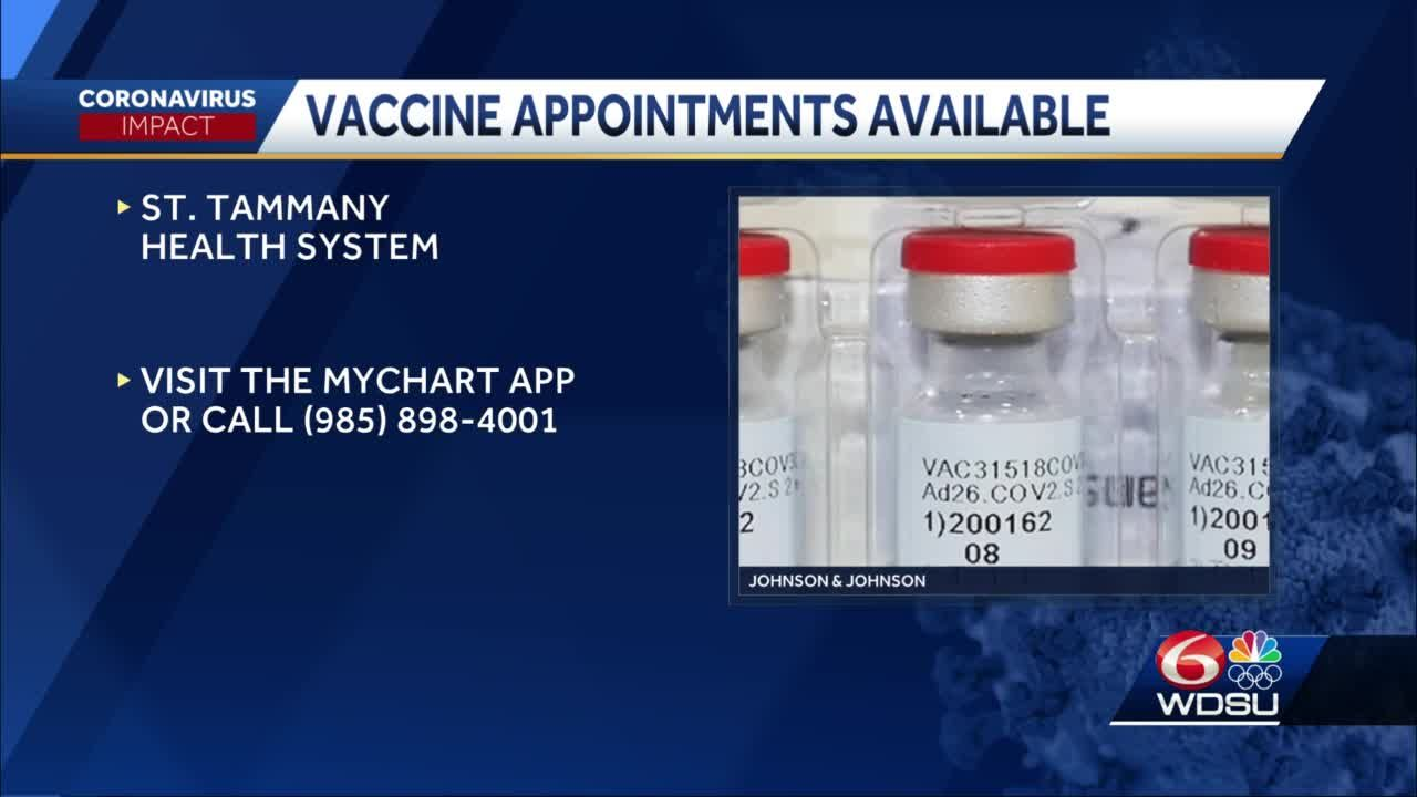 St. Tammany Health has vaccine appointments available