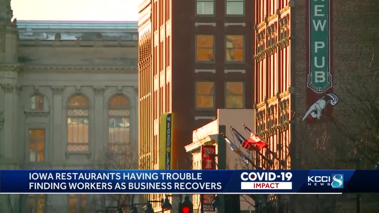 Iowa restaurants struggle to stay fully staffed after pandemic
