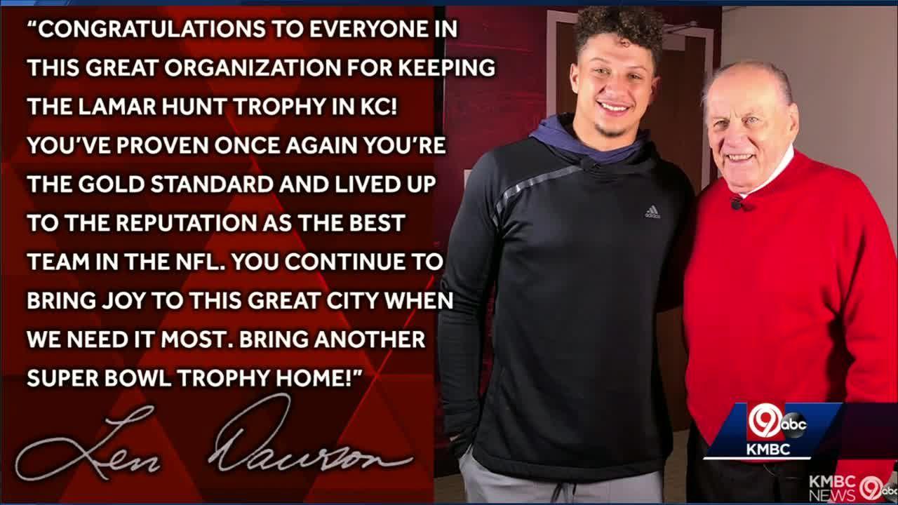 Len Dawson congratulates Chiefs on back-to-back AFC titles