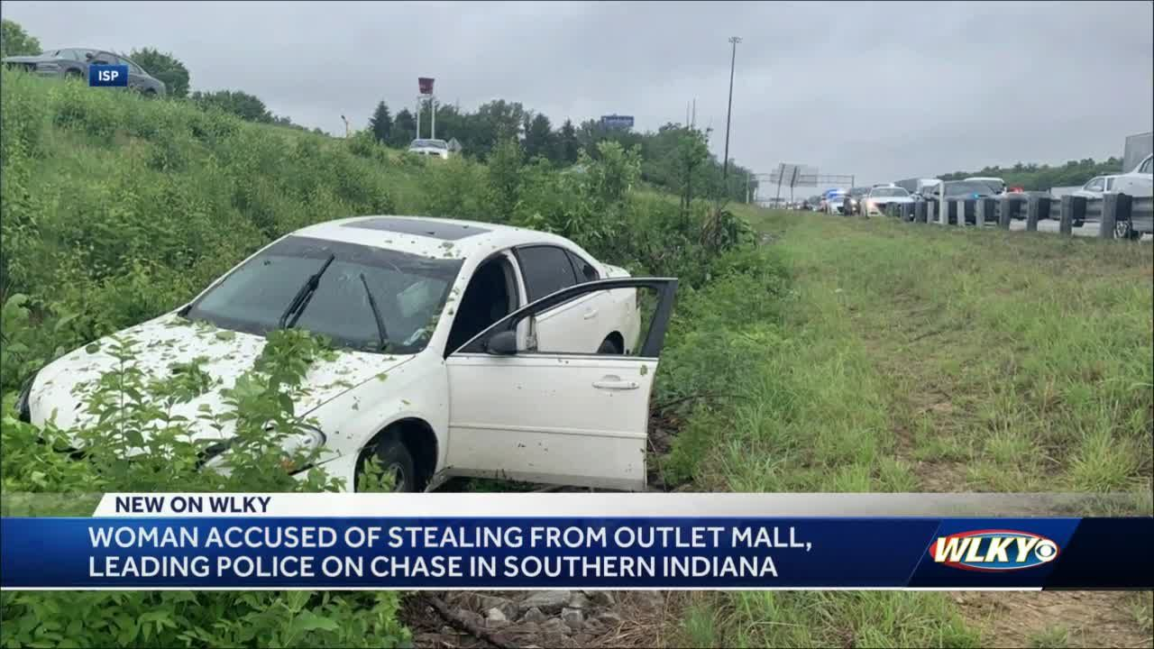 Shoplifting suspect leads troopers on 75-mile chase before crashing in southern Indiana