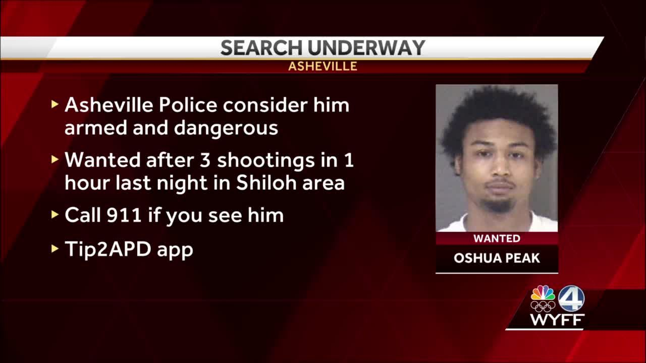 Asheville police search for armed, dangerous man