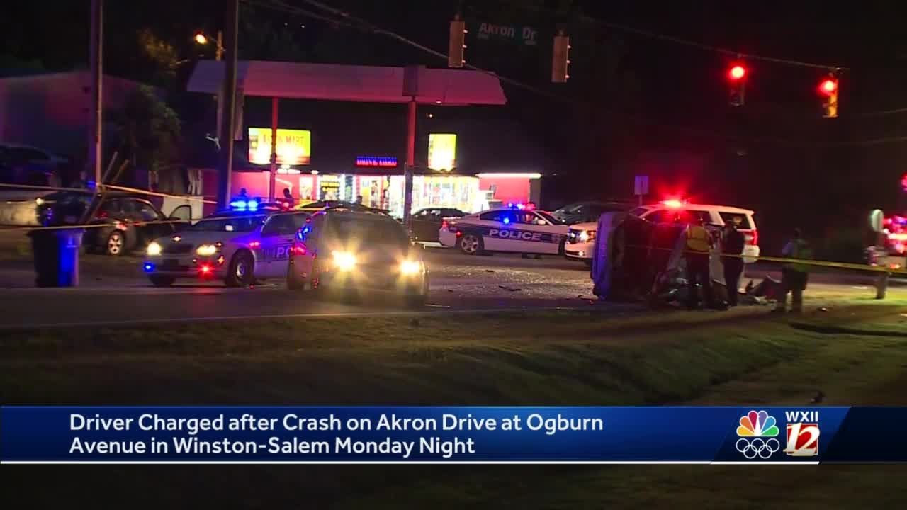 Driver charged in connection to 3 vehicle crash Monday night in Winston-Salem