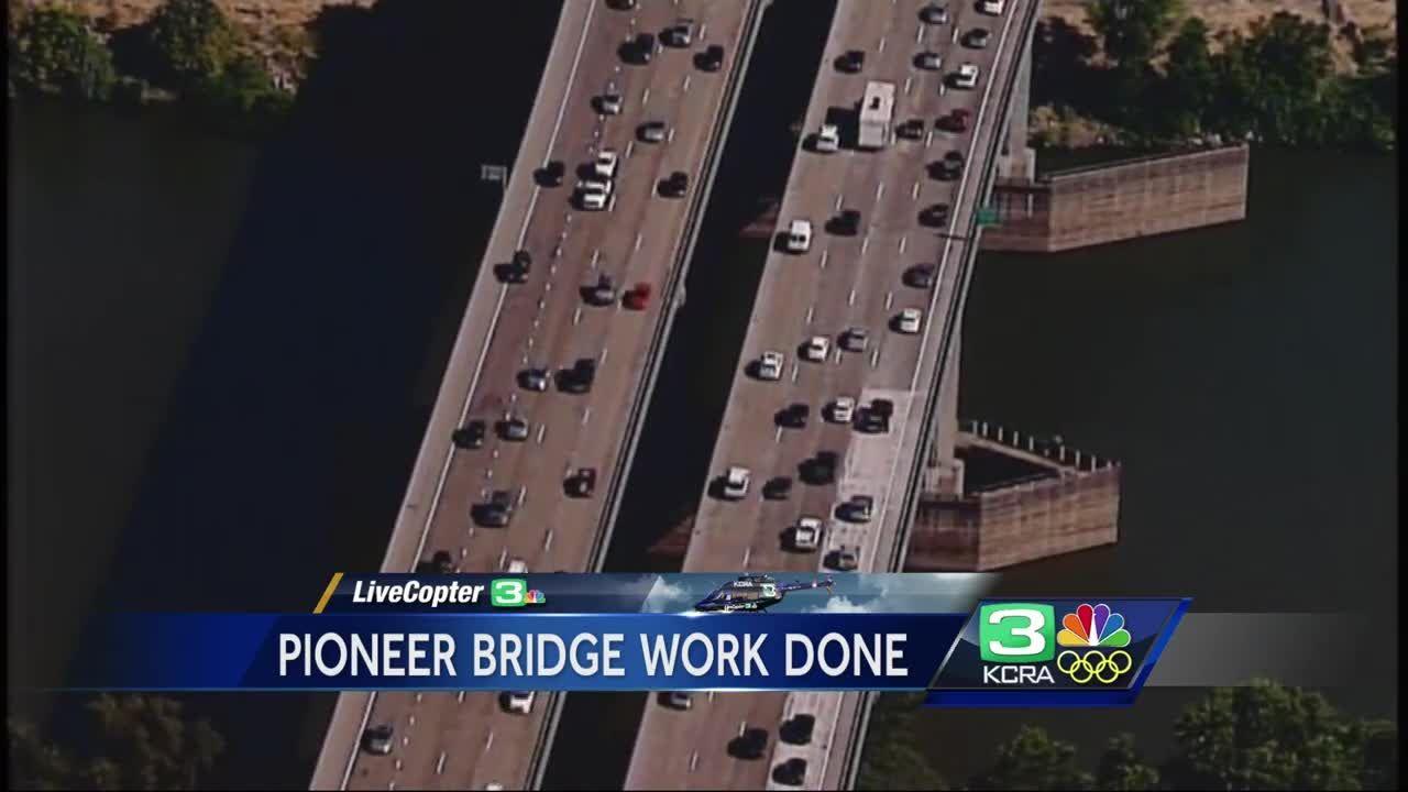 Traffic headache over: Caltrans finishes work on Hwy  50 bridge