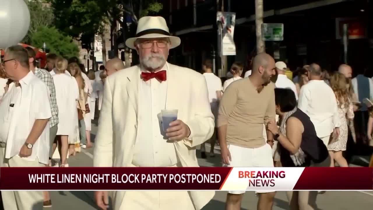 white linen night block party