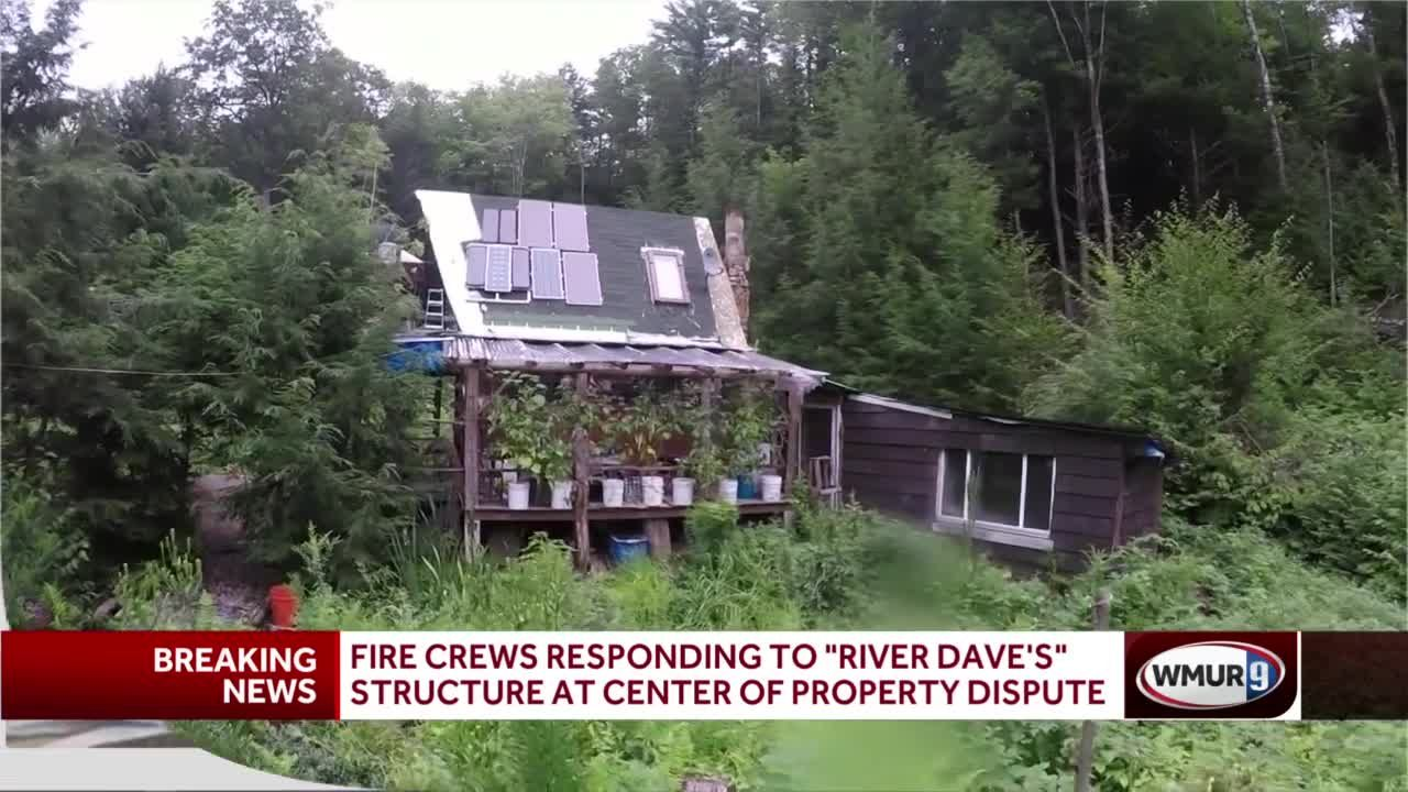 FIre Crews responding to 'River Dave's'' structure at center of property dispute