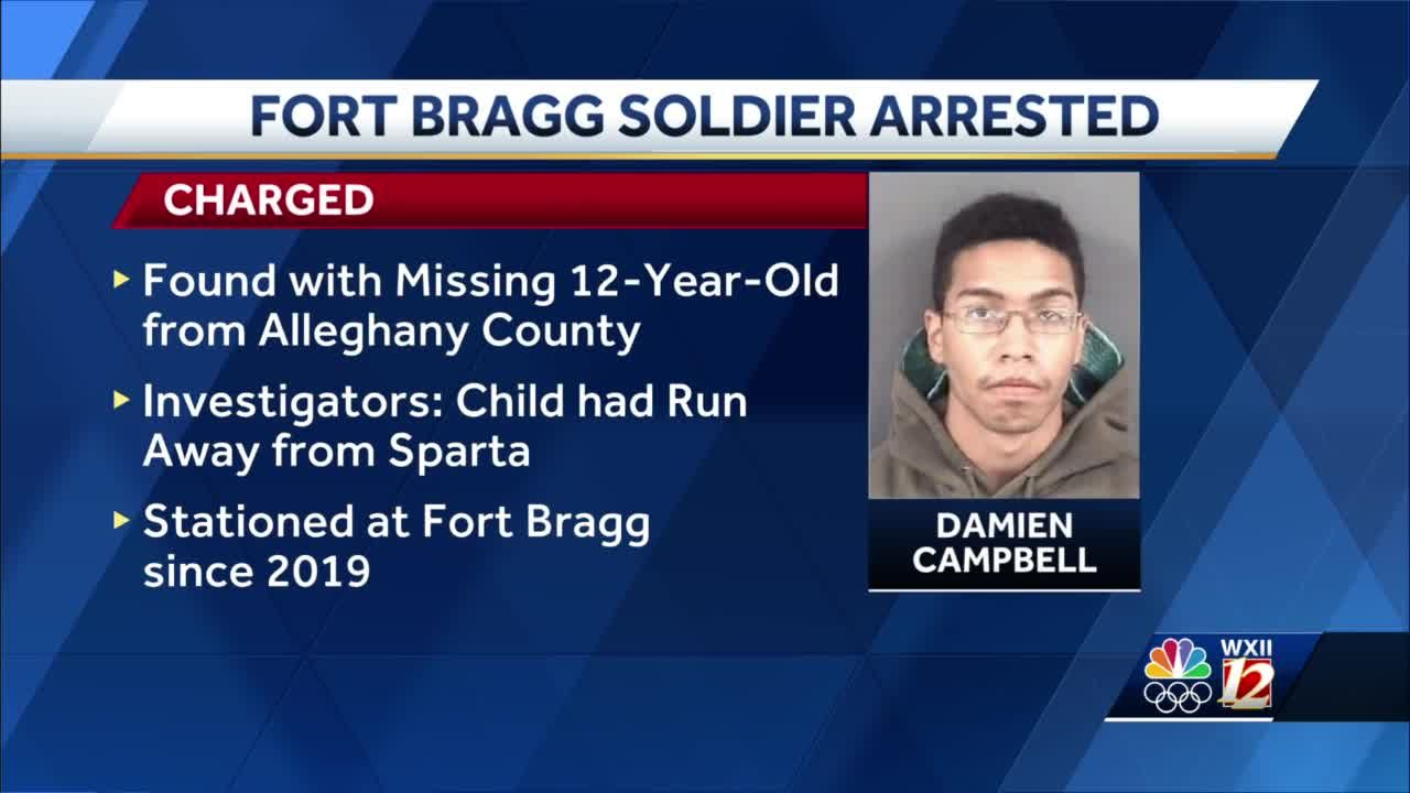 Fort Bragg soldier charged with multiple sex crimes after runaway Alleghany County child found