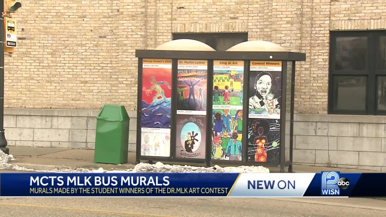 Student art dots bus stops for MLK Day