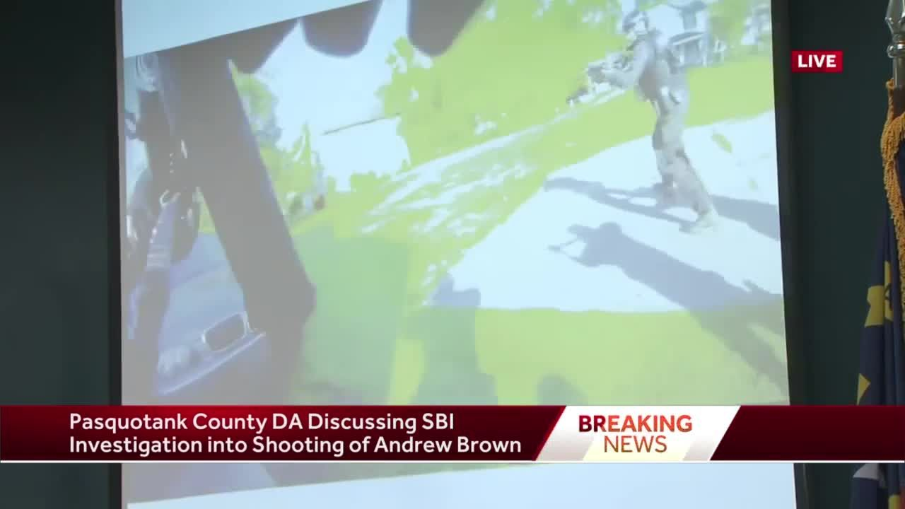 Pasquotank County district attorney says body camera video of Andrew Brown, Jr.'s shooting won't be released