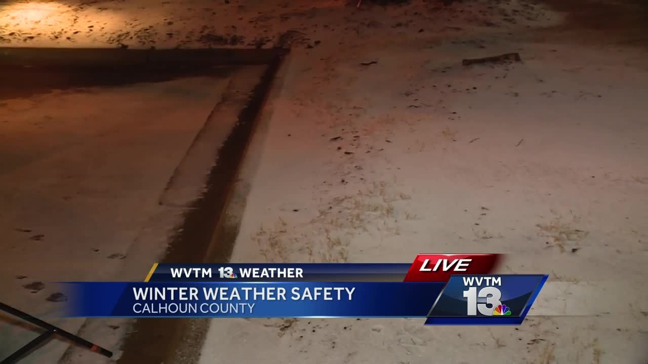 Calhoun County Cities Close Roads Due To Slick Conditions