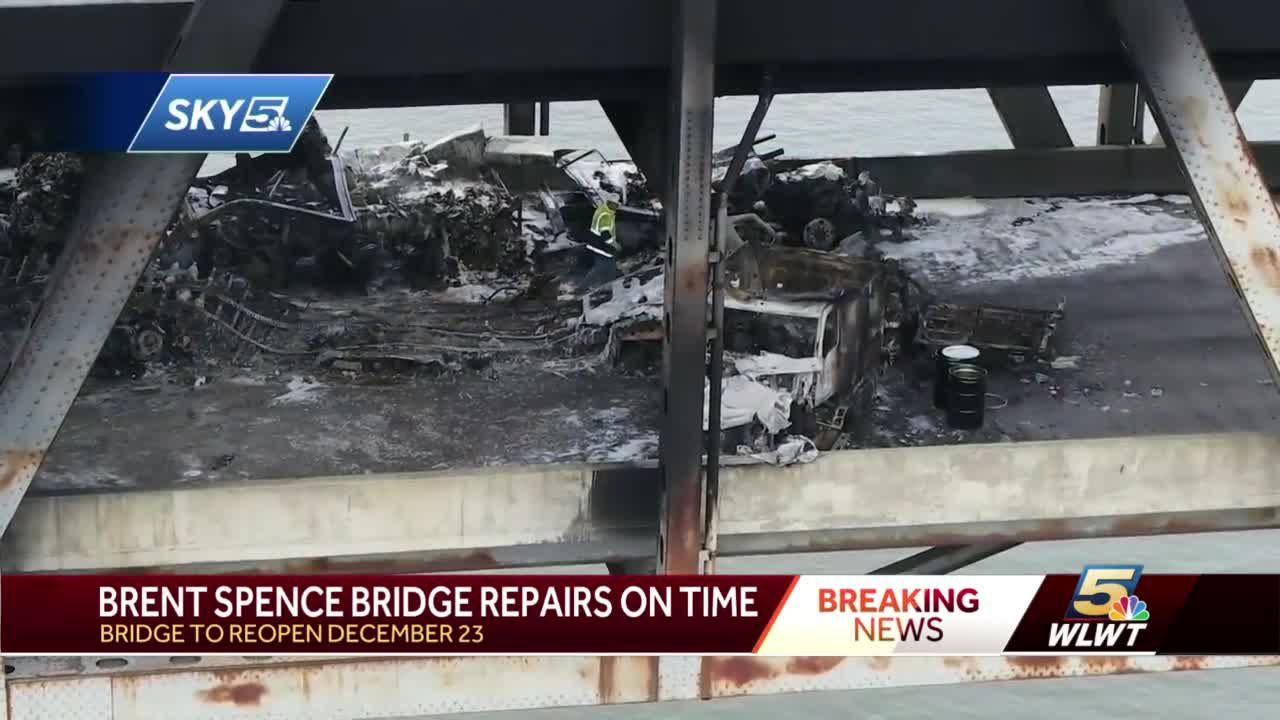No major setbacks yet in Brent Spence Bridge repairs