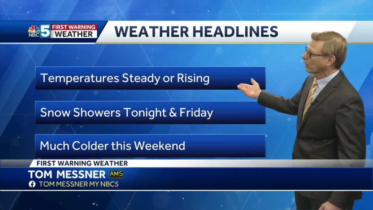 Video: Tom Messner is looking for more snow showers Friday. 1.21.21