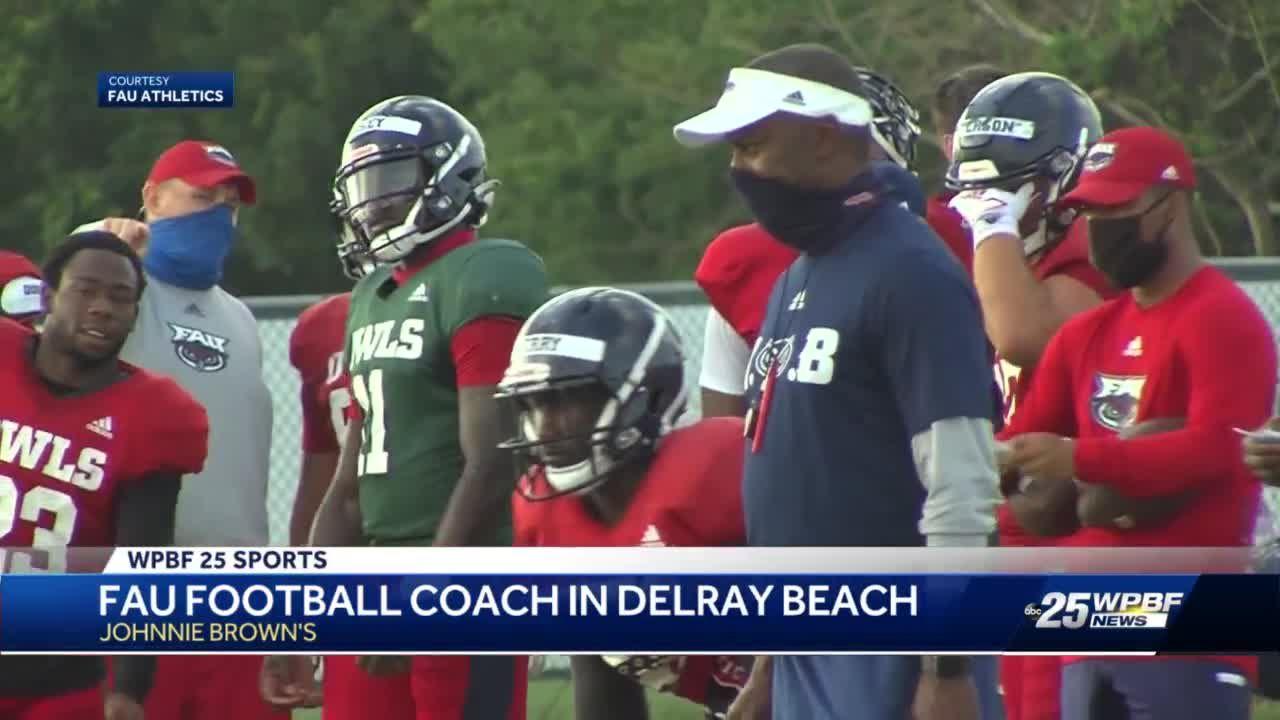 FAU football coach in Delray Beach
