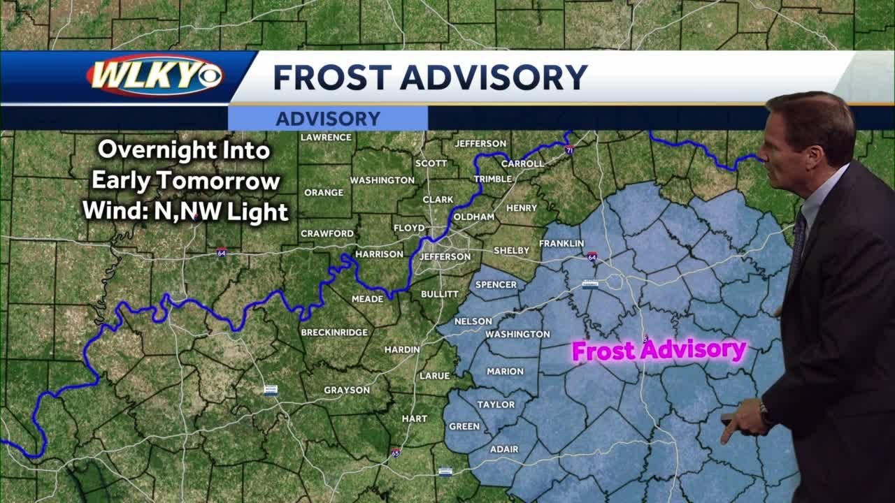 Patchy frost possible tonight