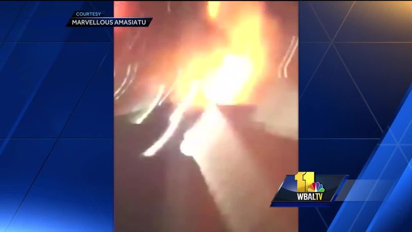 Video shows fiery tanker crash on I-95