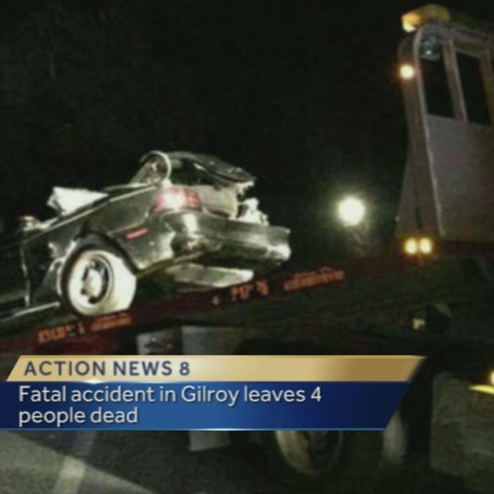 Quadruple fatal crash in Gilroy