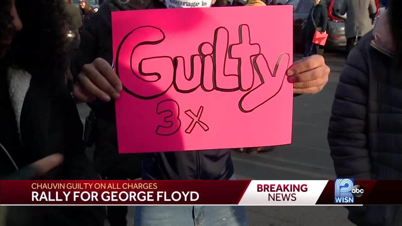People take to streets of Milwaukee to celebrate Chauvin guilty verdict