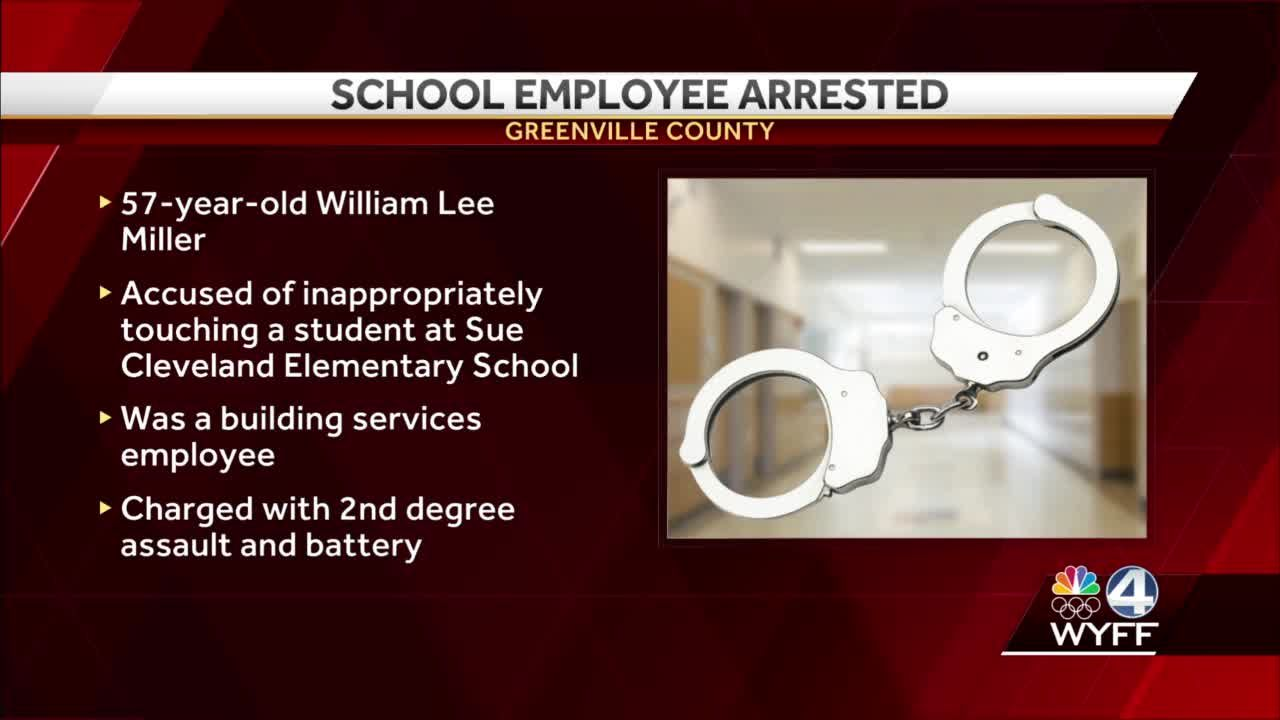 Man charged with inappropriately touching student