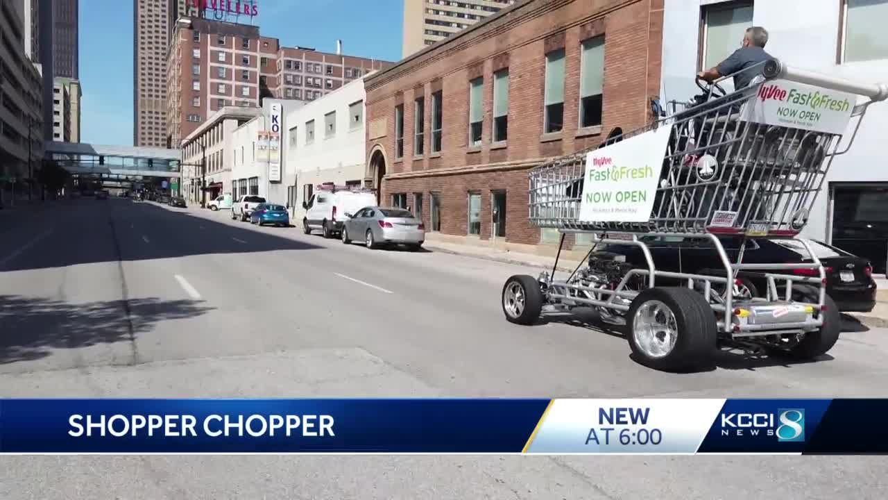 Des Moines Shopping >> Giant Shopping Cart Toured Dsm Delivering Groceries