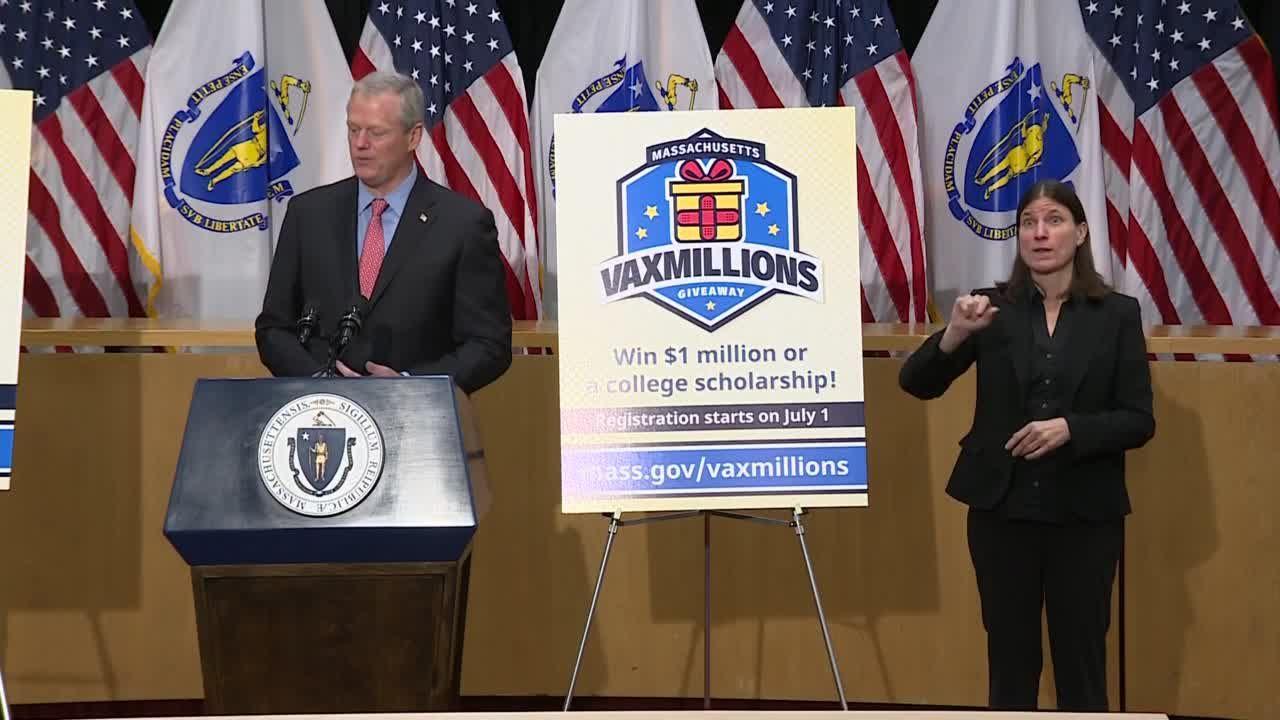 Baker announces 'Vaxmillions' vaccination lottery