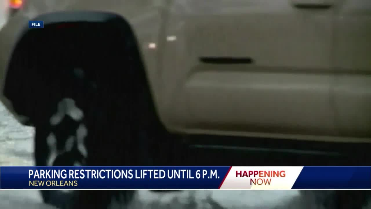 Parking restrictions lifted Tuesday