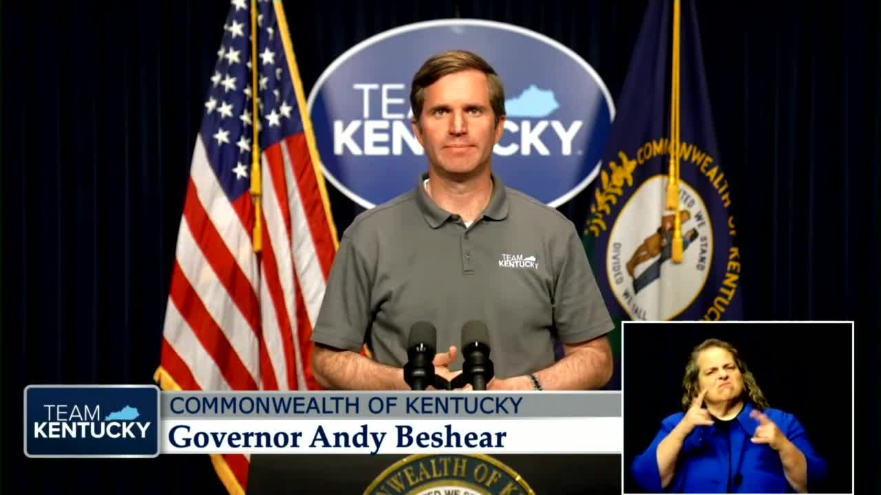 Gov. Beshear gives press conference on lifting Kentucky's mask mandate