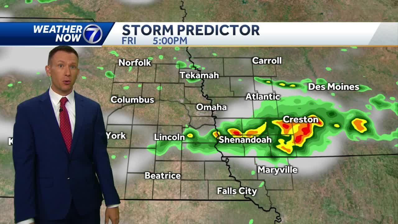 Morning storms north, afternoon storms south Friday