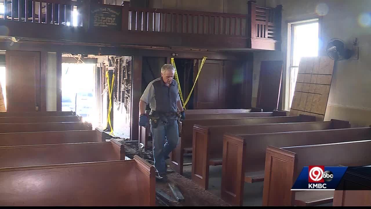 Federal agents, KCFD investigating fire at Harlem Baptist Church
