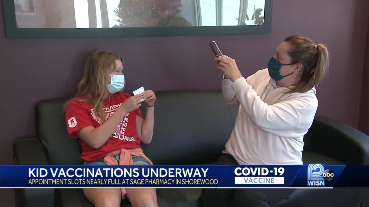 Wisconsin teens get COVID-19 vaccines
