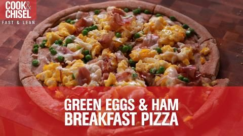 Batch Meal #1: Green Eggs and Ham Breakfast Pizzas