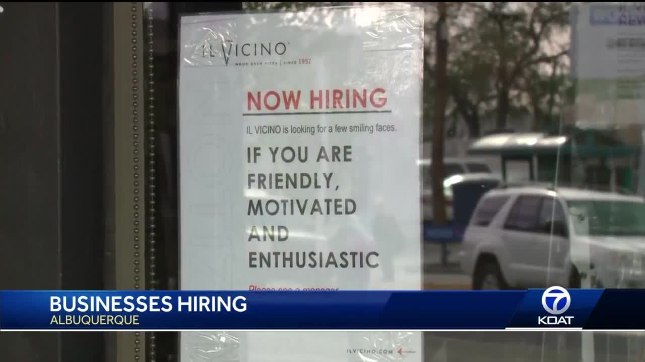 High unemployment rates as businesses work to fill open positions
