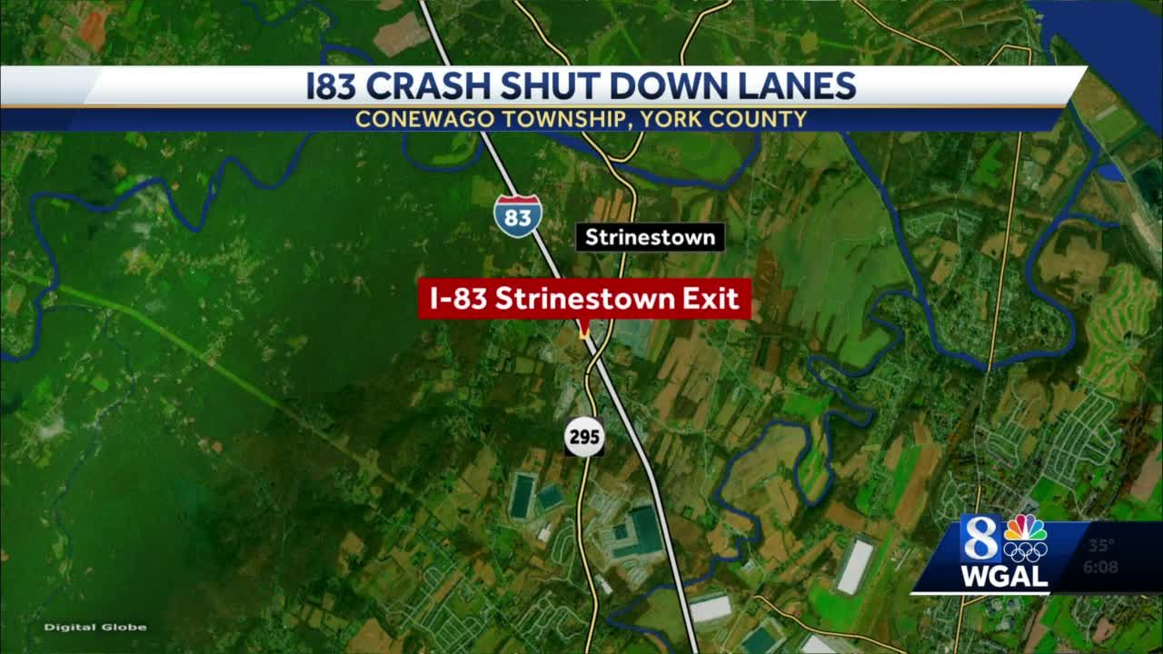 I-83 northbound reopens after closure in York County