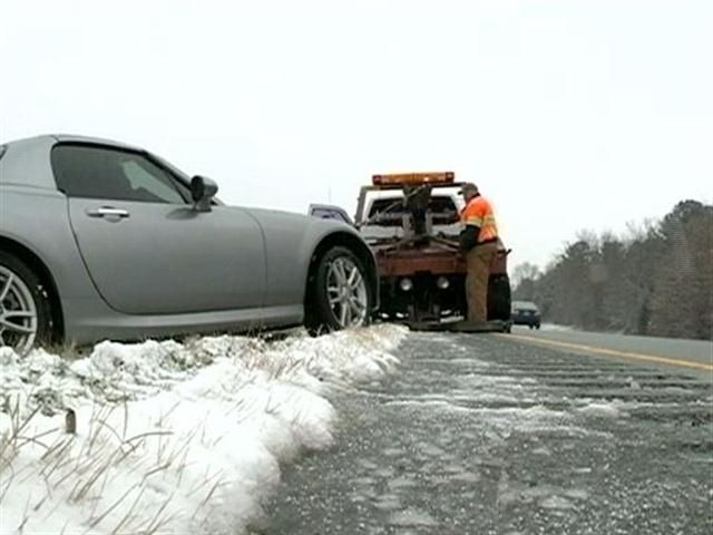 Highway Ice Causes Accidents