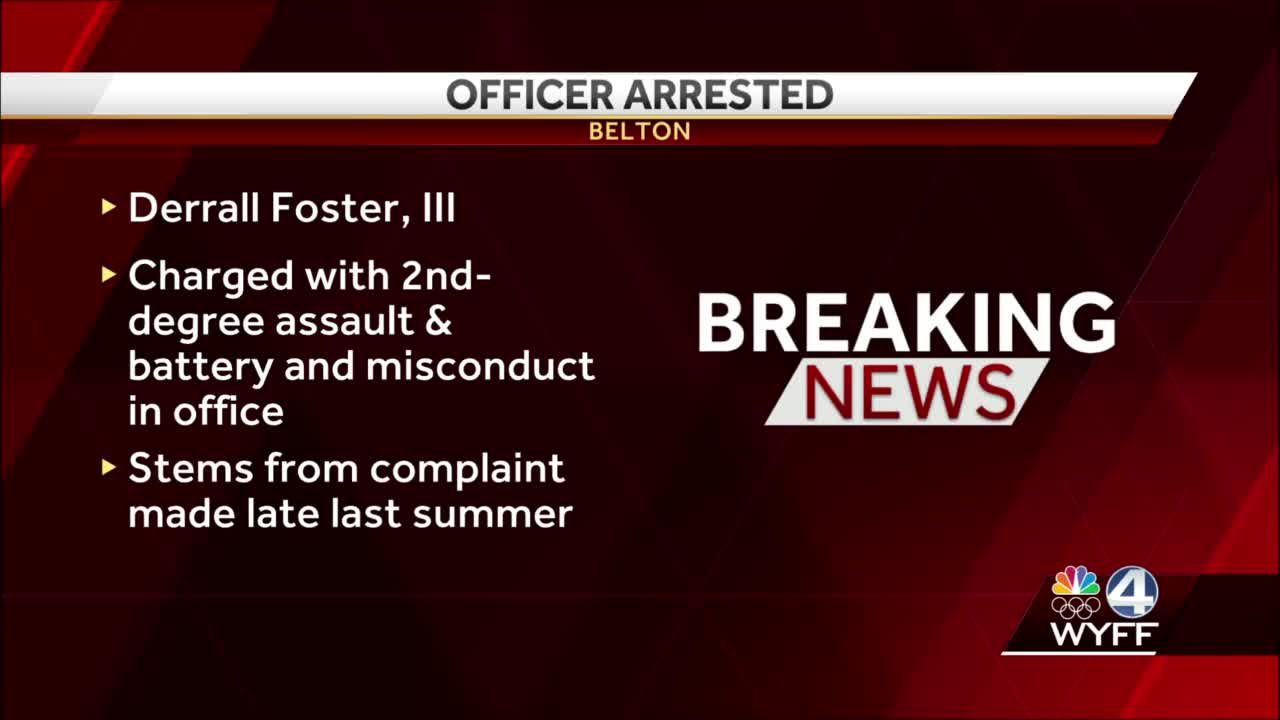 Belton police officer arrested, charged after 'inappropriately touching,' SLED says