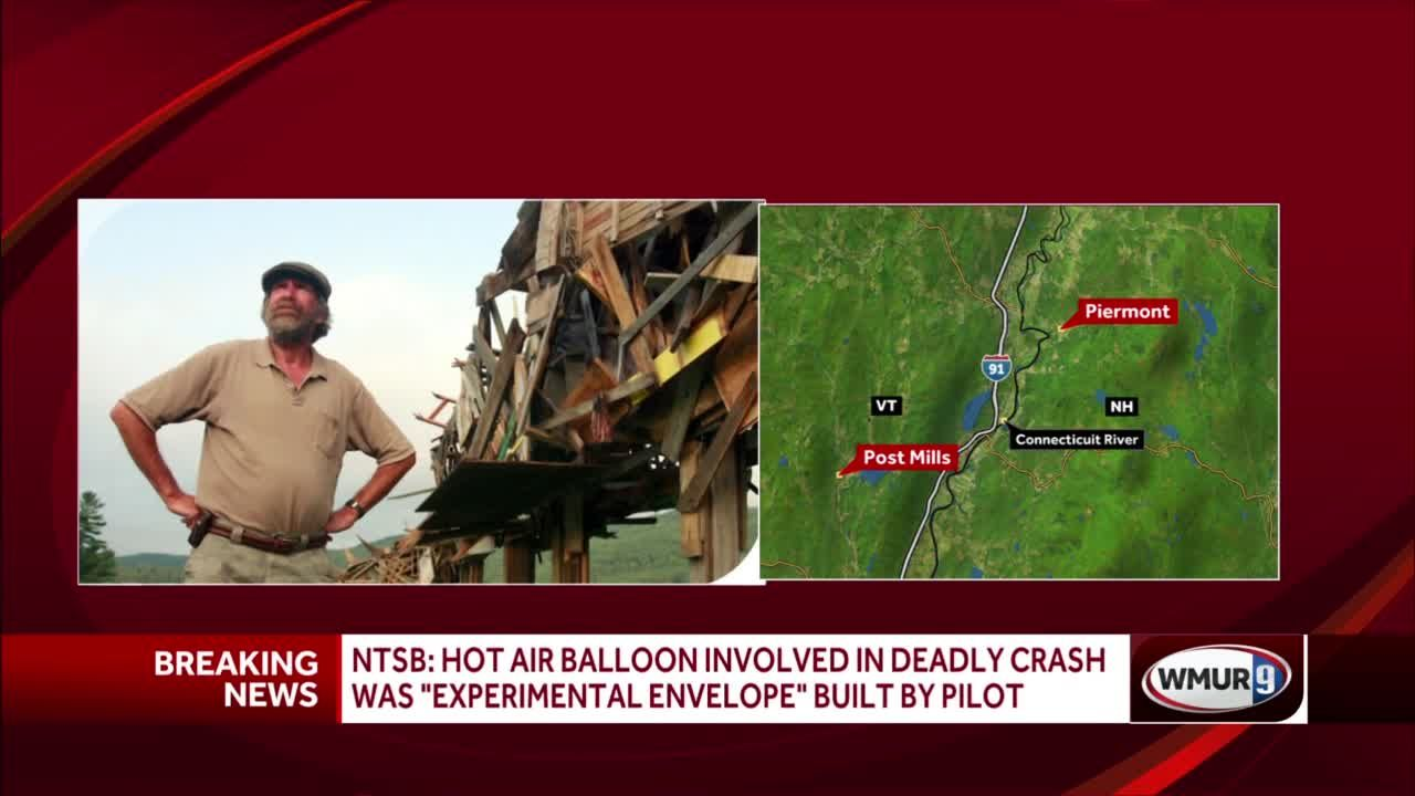 NTSB: Hot air balloon involved in deadly crash was 'experimental envelope' built by pilot