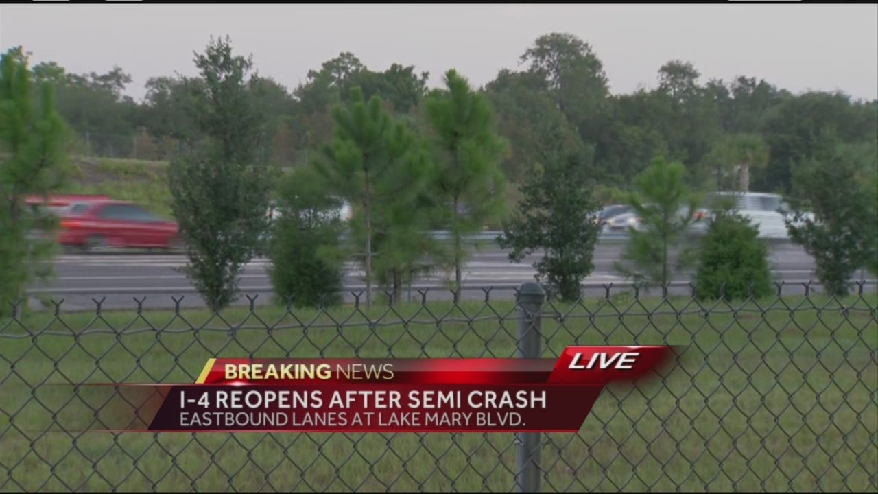 Overturned semi-truck prompted road closure on I-4 in Seminole County