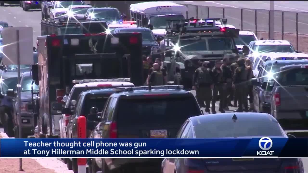 APD: Teacher mistook cellphone for gun prompting lockdown at Tony Hillerman Middle School