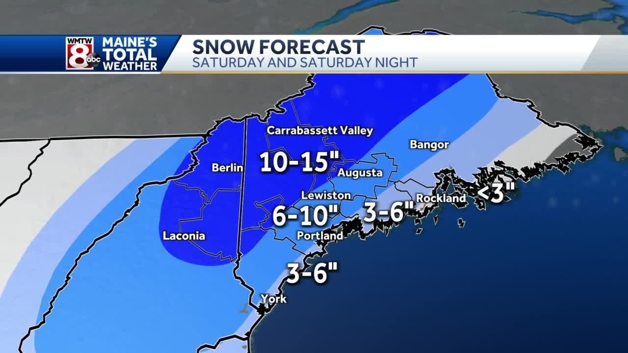 Winter storm warning issued out ahead of Saturday's storm.