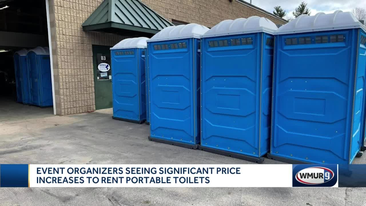 Event organizers see significant price increases for portable toilet rentals